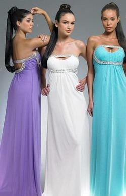 Длинные платья в стиле ампир. Фото