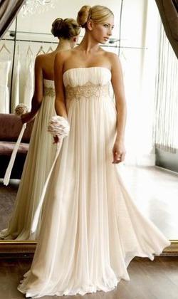 Свадебное платье в стиле ампир. Фото