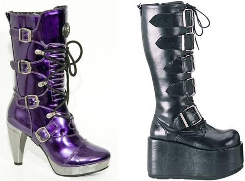 обувь в стиле рок